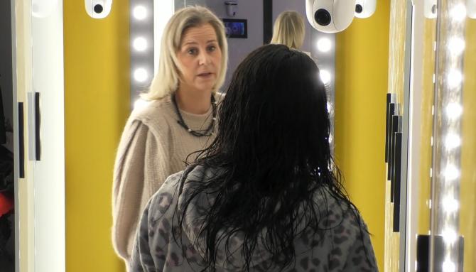 De eerste ruzie in Big Brother is een feit, Nathalie en Daniëlle hebben onenigheid