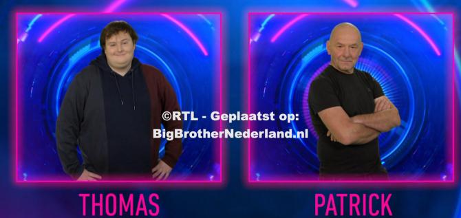 Thomas en Patrick zijn de genomineerden van deze week