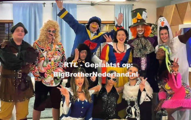 Big Brother bewoners houden een verkleedfeestje