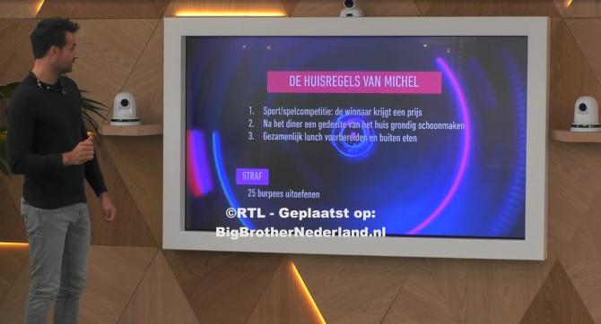 Huismeester Michel presenteert zijn huisregels
