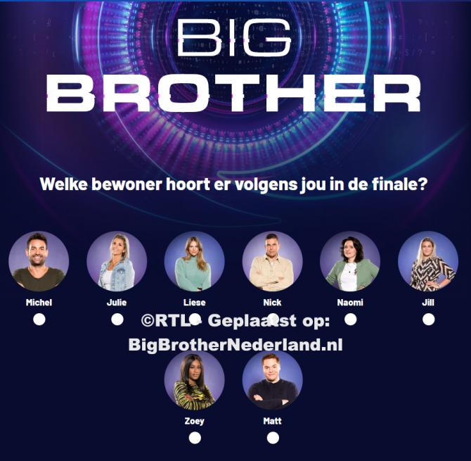 Breng nu je stem uit, wie hoort er in de finale van Big Brother?