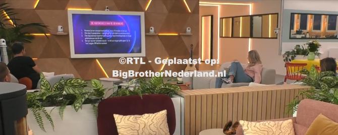 De actieve huisregels voor de laatste week van Big Brother zijn bekend