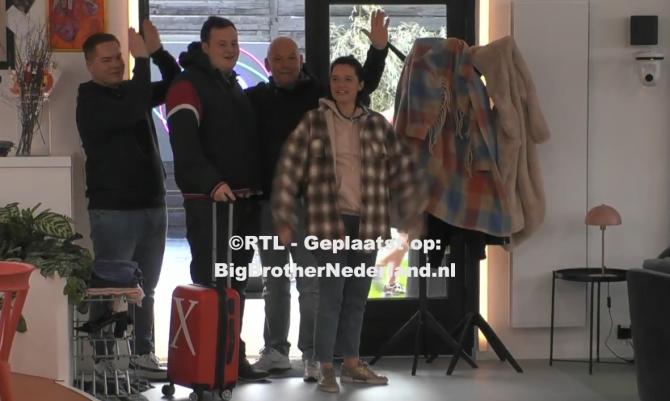 Oud bewoners Matt, Naomi, Patrick en Thomas verlaten het Big Brother huis